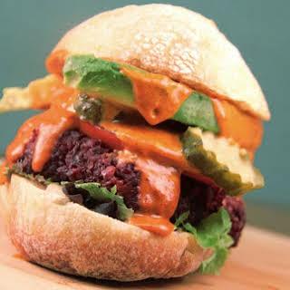 Smoky Paprika Beet Burgers With Spicy Tahini Sauce [Vegan, Gluten-Free].