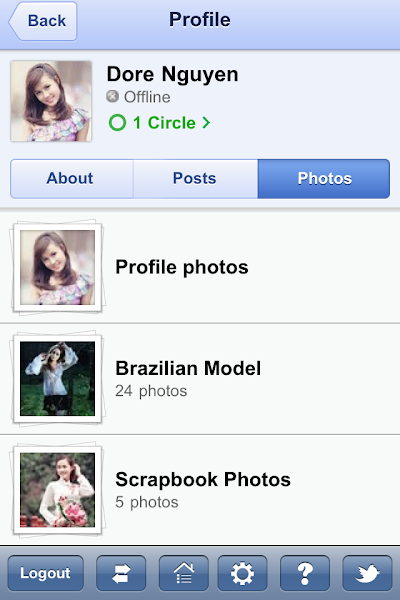 Photo: Photo page of a user profile