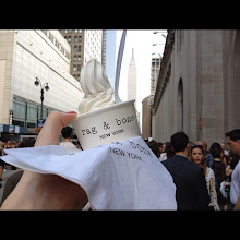 Photo: It was a hot day at New York Fashion Week Spring 2013 thanks for the ice cream! Which shows are you excited to see?