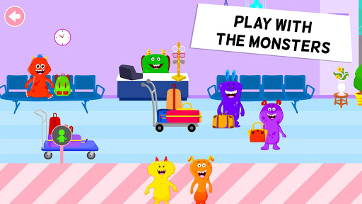 my monster town - airport games for kids screenshot 3