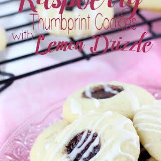 Raspberry Thumbprint Cookies with Lemon Drizzle.