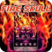 Fire Skull Theme Scary Horror