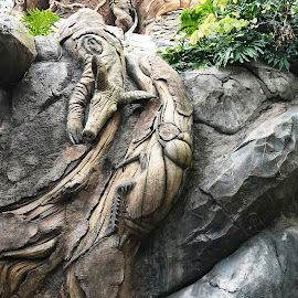 Pig and Bug.   by Dee Haun - Artistic Objects Other Objects ( artistic objects, bug, animal kingdom, sculpture, walt disney world, 180510f3056ce1, tree of life, pig,  )