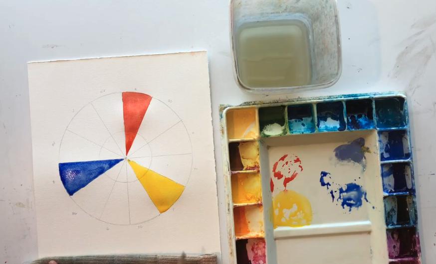 red yellow blue wheel
