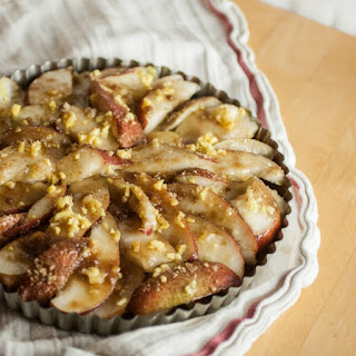 Walnut Crusted Pear-Ginger Tart
