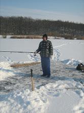 Photo: Pontyra várva...Jobb megtisztítani a terepet, mint hóban taposni.