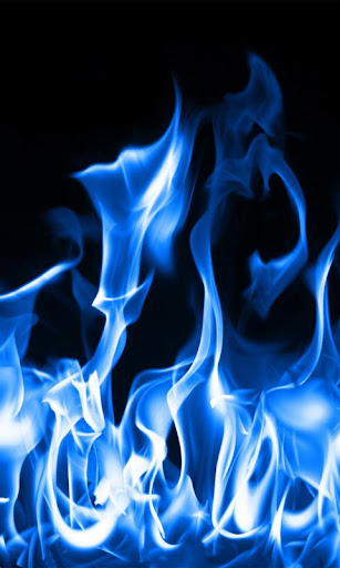 藍色火焰壁紙