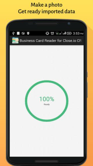 Business Card Reader for Close.io CRM- screenshot