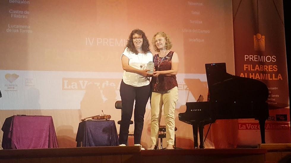 Cristina Serena, gerente de Malcaminos, empresa galardonada con el premio Cine.