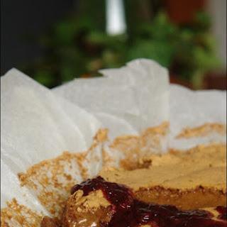Chocolate sponge cake with Red Sauce.