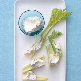 Horseradish Cream Cheese and Celery.