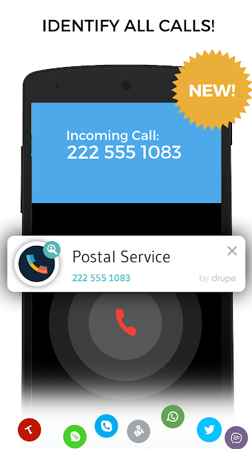 #2. Contacts Phone Dialer: drupe (Android)