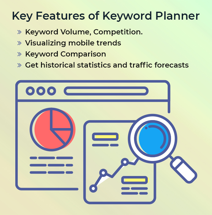 key features of keyword planners