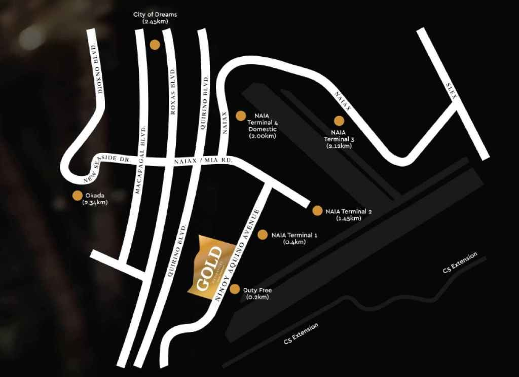 Gold Residences, Paranaque location map