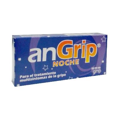 Acetaminofen + Clorfeniramina Angrip Noche 500/2mg  x 3 Comprimidos Klinos