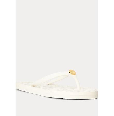 Shawna Chain Link Sandals, vanilla