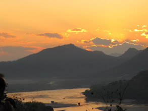 Photo: Day 265 -   Sunset over the Mekong River from  Phousi Hill #4