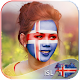 Iceland Flag Face Paint - Funky click Photo Editor icon