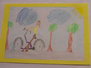 """Photo: praca Natalii """" Jeździmy rowerem bo ... to świetny sposób na szczupłą sylwetkę """""""