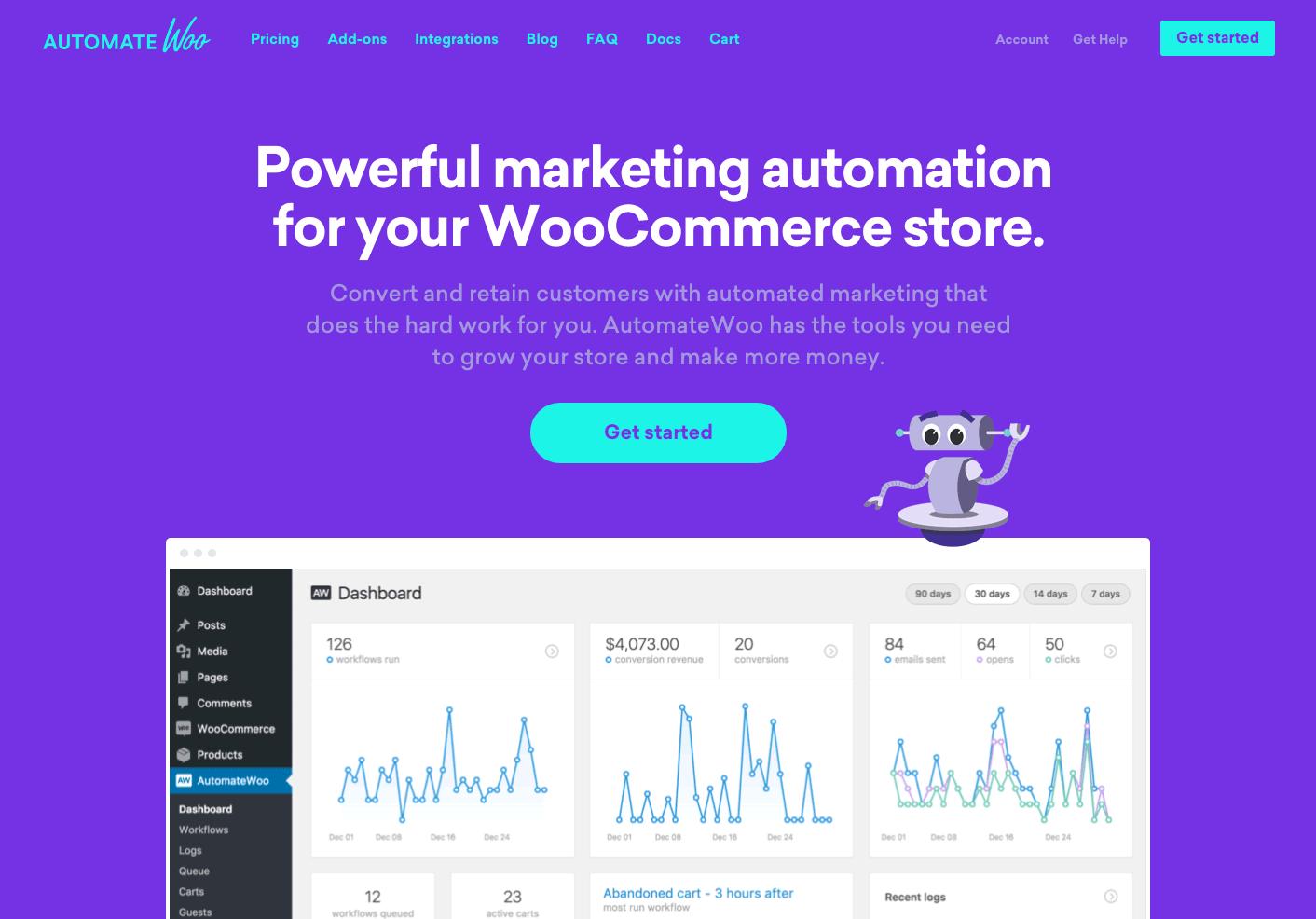 AutomateWoo homepage.