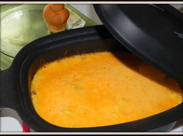 Top with swiss or cheddar. Set OVEN to 350 degrees for 15 to 20...