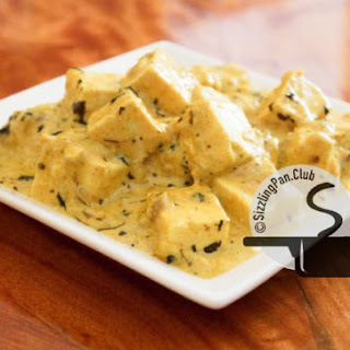 Methi Malai Paneer/ Cottage cheese in cream and fenugreek sauce.