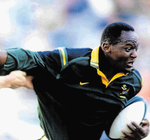 FAST AND FURIOUS Thando Manana in action as a Springbok.
