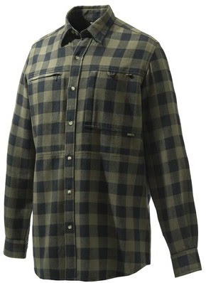 Beretta Overshirt Zippered Pocket Green & Black Check