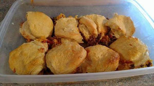 Sloppy Joe Casserole With Biscuits Recipe