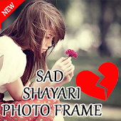 Sad Shayari Photo Frame 2017