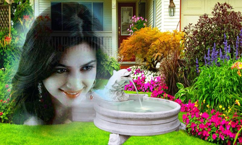 Transparent Garden Photo Frame- screenshot