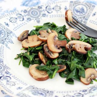 Garlicky Spinach and Mushrooms.