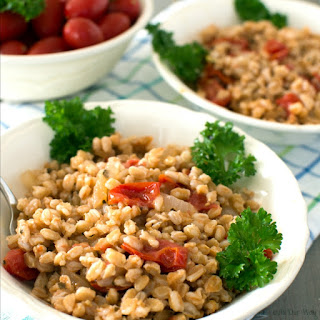 Farro with Tomatoes Easy Italian One-Pan Dish