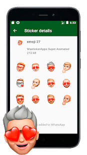 🙌 Neue Sticker von Emojis in 3D (WAstickerapps) Screenshot