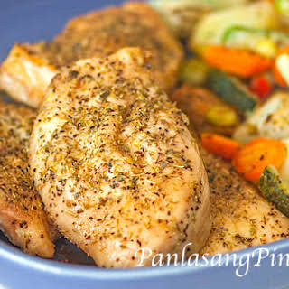 Rosemary Baked Chicken with Vegetables.