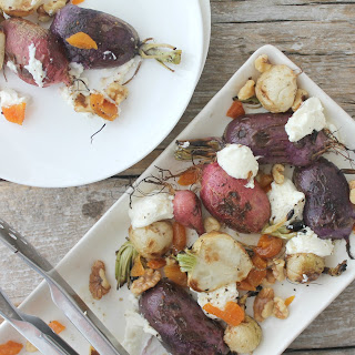 Grilled Radishes with Ricotta, Apricots and Walnuts Recipe