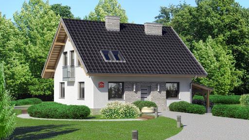 projekt Dom przy Cyprysowej 20 N