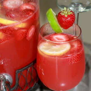 Strawberry Limeade Rum Punch.