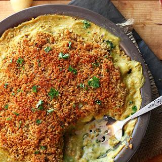 Cheesy Vegan Potato & Broccoli Casserole Recipe