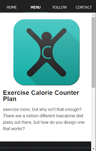 Exercise Calorie Counter Plan screenshot 1