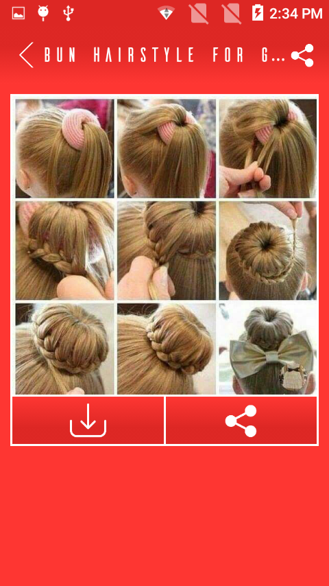 Bun Hairstyle For Girls Images Android Apps On Google Play - Bun hairstyle crossword clue