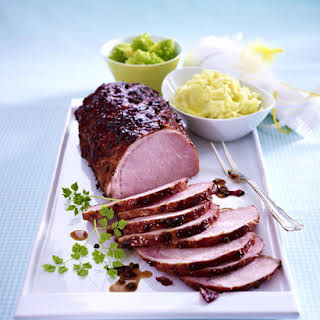 Smoked Pork Roast with Spicy Cherry Glaze.