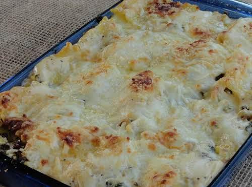 """Click Here for Recipe: Spinach Artichoke Lasagna Rolls """"Artichokes, spinach and cheese?..."""