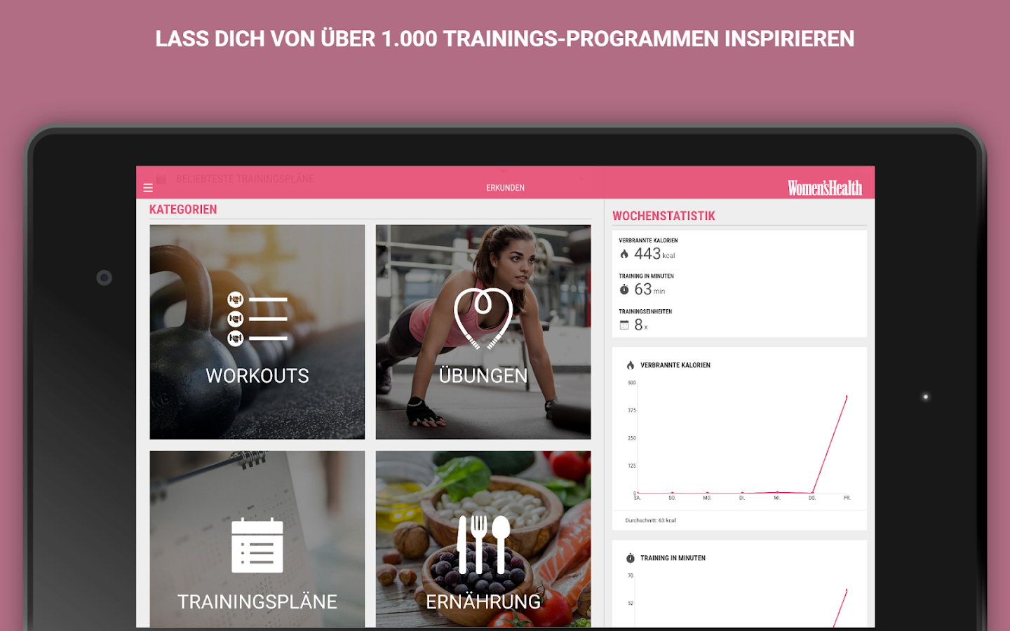 Womens Health Personal Trainer- Workout & Training- screenshot