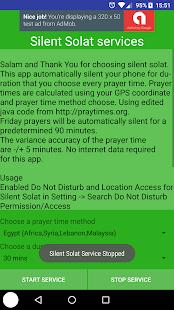 Auto silent on solat /prayer/salah easy setting - náhled