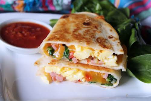 """Brunch Quesadillas """"These Brunch Quesadillas was a perfect way to start off..."""