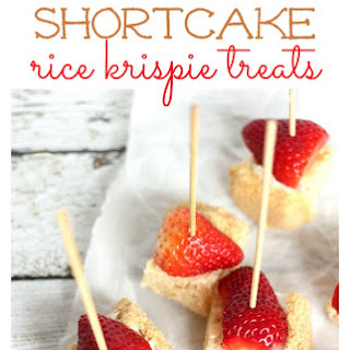 Strawberry Shortcake Rice Krispies Treats!
