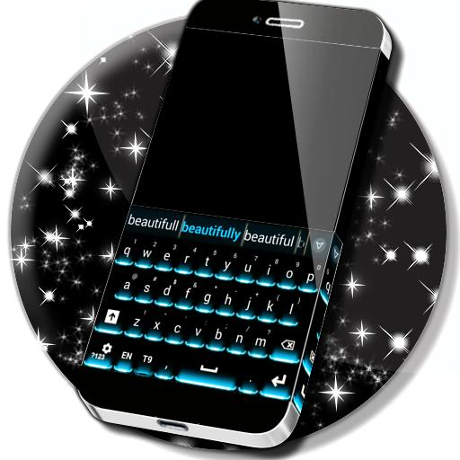 Neon Theme Keyboard Phone