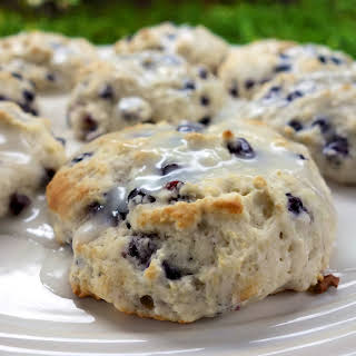 Quick Blueberry Biscuits.