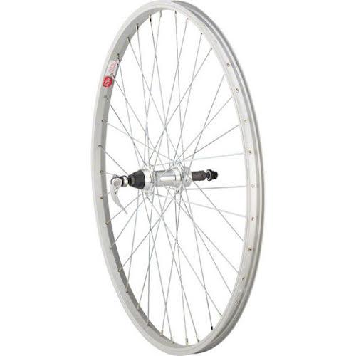 "Sta-Tru Rear Wheel 26x1.5"" Q/R Axle with 36 Spokes 5-8 Speed, Silver"